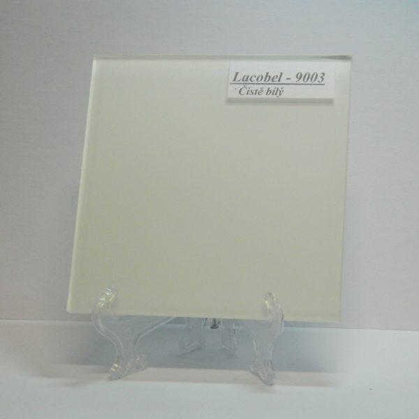 Lacobel čistě bílý (RAL 9003) 4mm